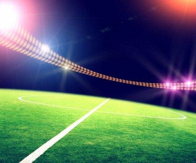 Affisch stadion i ljus och blinkar
