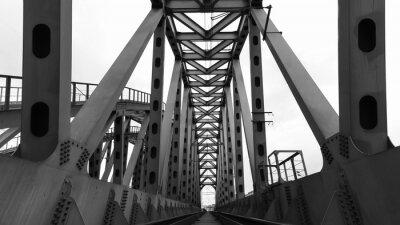 Affisch stål järnvägsbro