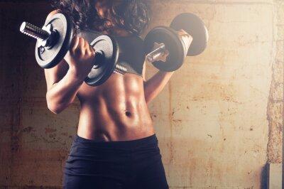 Affisch Stark kropp kvinna träningspass