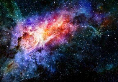 Affisch starry djup yttre nebulaavståndsuniversum och galax
