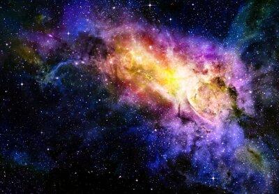 Affisch starry djup yttre rymden Nebual och Galaxy