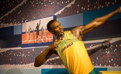 Affisch Statyn av Usain Bolt på Madame Tussauds i London, 2012