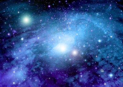 Affisch Stjärnor, stoft och gas nebulosa