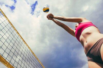 Affisch strand volleyboll