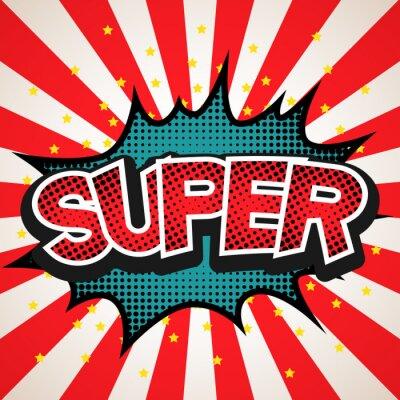Affisch Super tal bubbla bakgrund