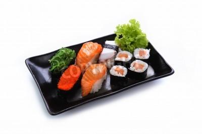 Affisch sushi isolerad på en vit bakgrund