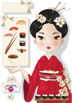 Affisch sushi Meny