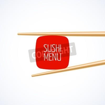 Affisch Sushi-menyn täcka mallen