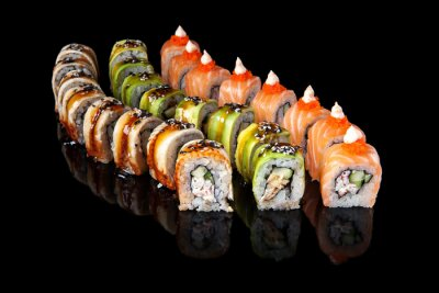 Affisch sushi rulle