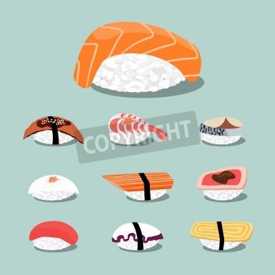 Affisch Sushi set icon
