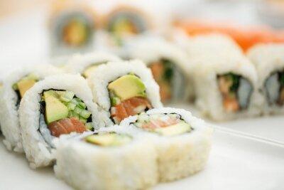 Affisch Sushi tallrik med pinnar