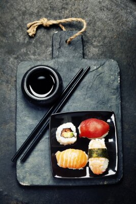Affisch sushi uppsättning