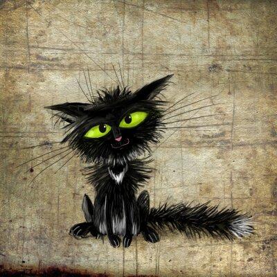 Affisch Svart katt