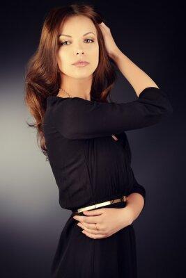 Affisch svart klänning