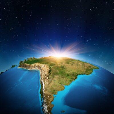 Affisch Sydamerika