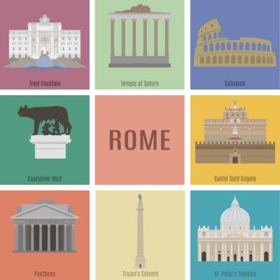 Affisch Symboler i Rom