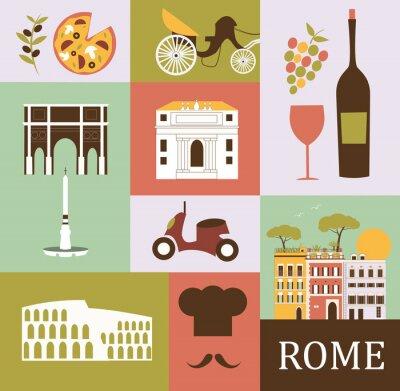 Affisch Symboler i Rom. Vektor