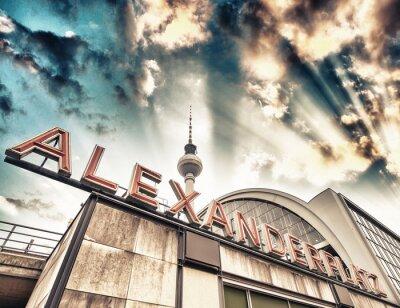 Affisch Tågstation Alexander i Berlin - Tyskland