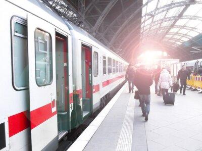 Affisch tågtrafiken