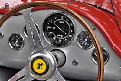 Affisch Tappning Ferrari instrumentbräda