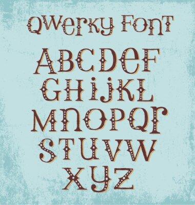 Affisch tappning knäppa handritad typsnitt med blandade stora och små bokstäver