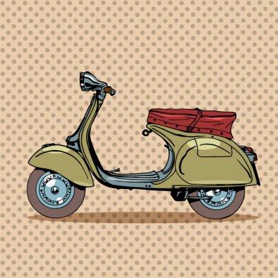 Affisch Tappning scooter retro transport