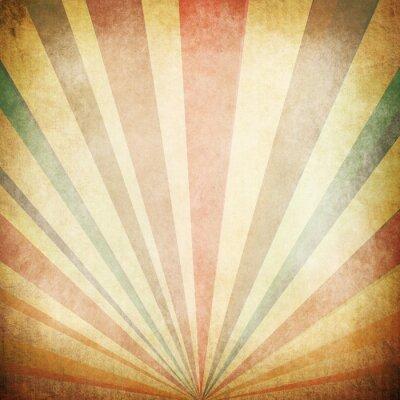 Affisch Tappning Sunbeams Bakgrund