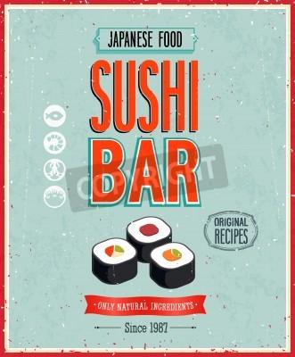 Affisch Tappning Sushi Bar affischen.