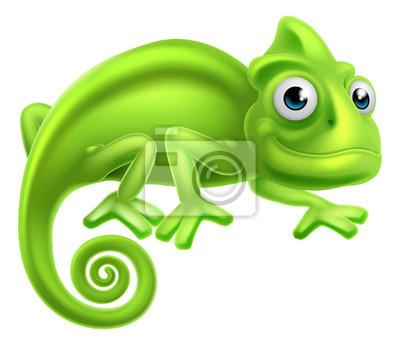 Affisch tecknad Chameleon