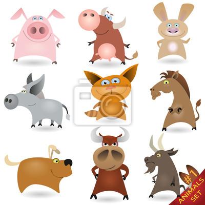 tecknade bilder på djur
