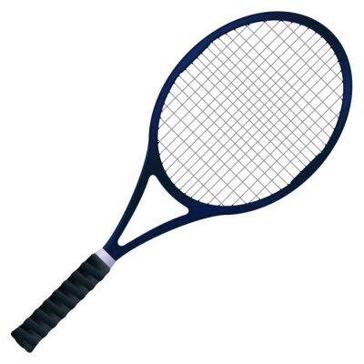 Affisch tennisracket