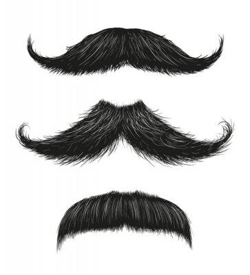 Affisch Three Mustache Set