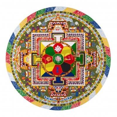 Affisch tibetanska mandala