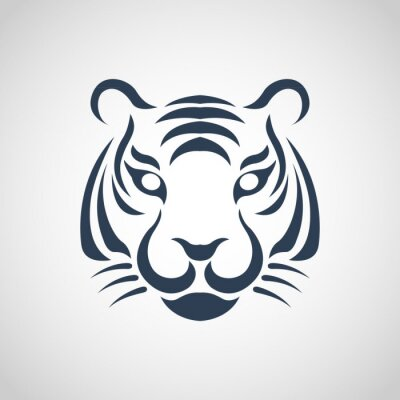 Affisch tiger logotyp vektor