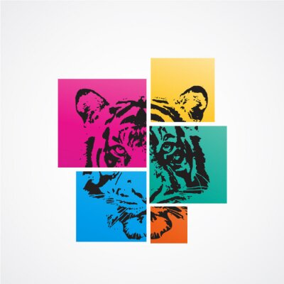Affisch tigre
