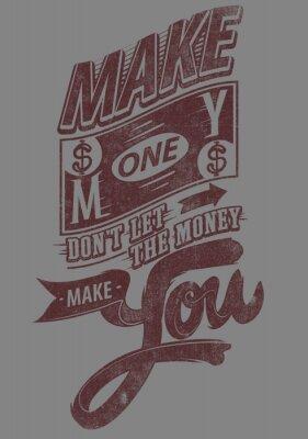 Affisch Tjäna pengar