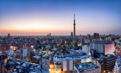 Affisch Tokyo horisont Skytree