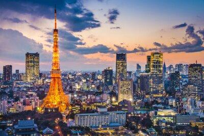 Affisch Tokyo, Japan på Tokyo Tower