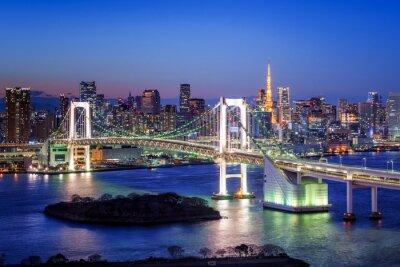Affisch Tokyo Regnbågsbron und Tokyo Tower