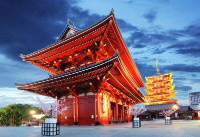 Affisch Tokyo - Sensoji-ji, tempel i Asakusa, Japan