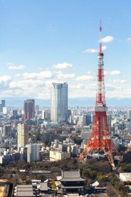 Affisch Tokyo Tower stadsbild