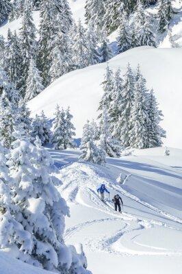 Affisch Tourers i snöiga Tirol