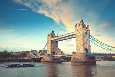 Affisch Tower Bridge i solnedgången, London