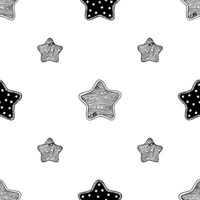 Affisch Trä stjärnor mönster 3