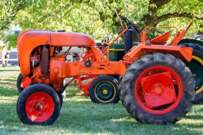 Affisch tracteur ancien