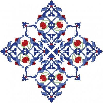 Affisch Traditionell antik turk illustration konstruktion