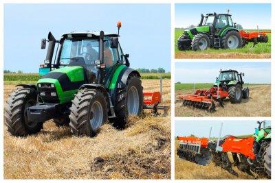 Affisch traktor collage