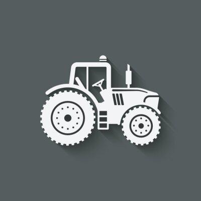 Affisch traktor siluett icon