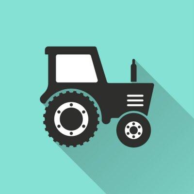 Affisch Traktor - vektor ikon.