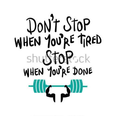 Affisch Träning gym fitness bodybuilding motivation koncept / Vector print design